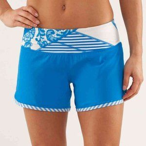 Lululemon Groovy Run Short Beaming Blue Quilting